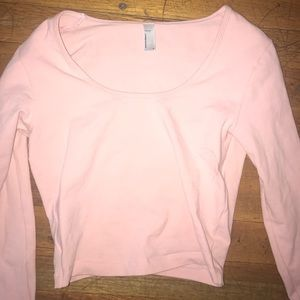 75bf18ea94a American Apparel Tops - American Apparel Light Pink Long Sleeve Crop Top